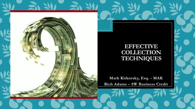 SWBCS Conference: Effective Collection Techniques, Session 2504