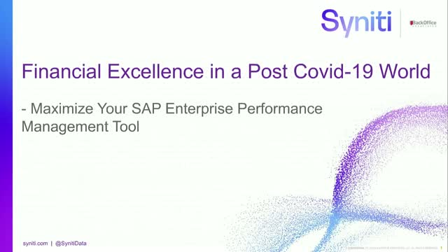 Addressing Your Data Needs – Maximise Your SAP Enterprise Performance Management