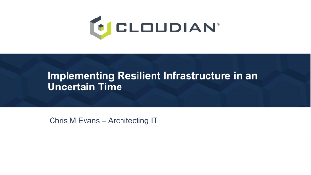 Implementing Resilient IT Infrastructure in an Uncertain Time