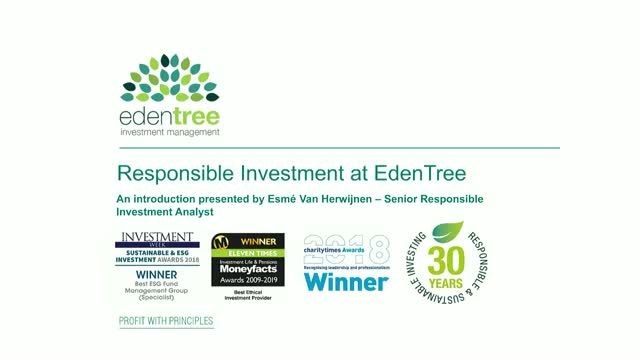 Responsible Investment at EdenTree
