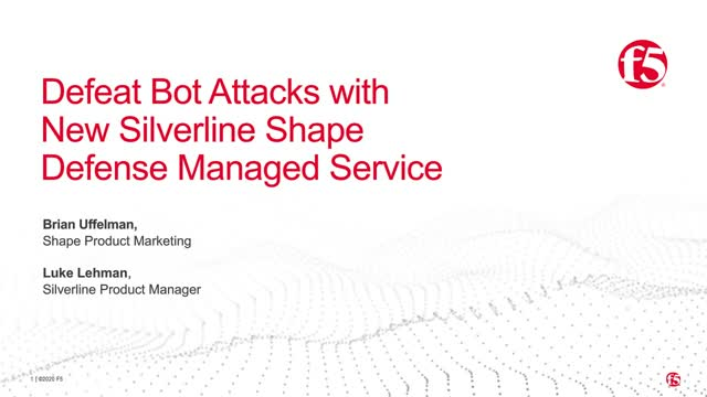 Defeat BOT Attacks with New Silverline Shape Defense Managed Service