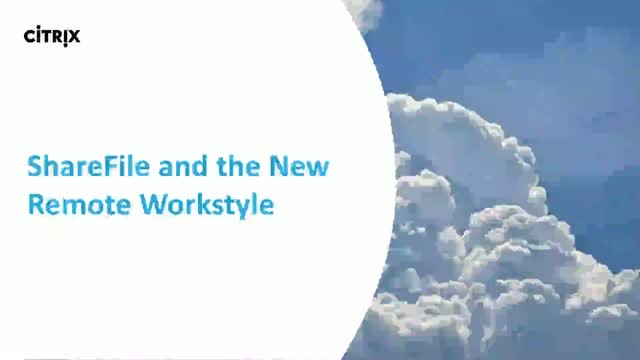 ShareFile and the New Remote Workstyle