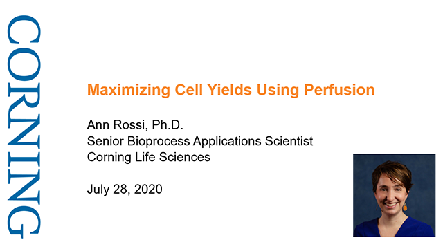 Maximizing Cell Yields Using Perfusion - POSTPONED