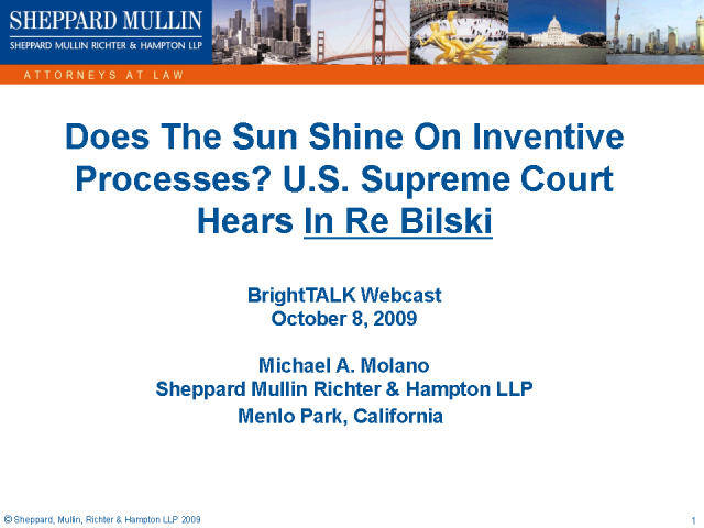Does The Sun Shine On Inventive Process? In re Bilski, S.Ct.2009