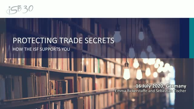 How the ISF supports you in protecting trade secrets