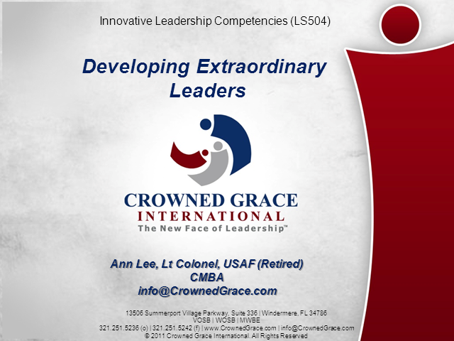 Developing Extraordinary Leaders