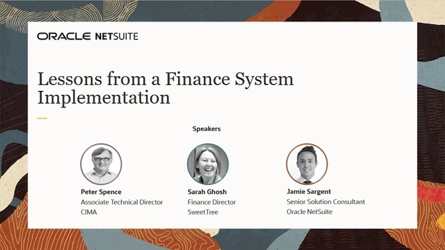 Lessons from a Business Finance System Implementation