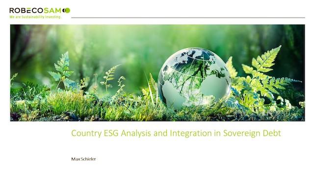 Country ESG Analysis and Integration in Sovereign Debt