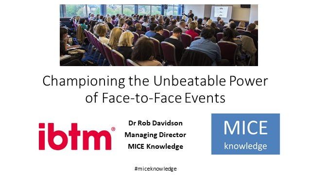 Championing the Unbeatable Power of Face-to-Face Events