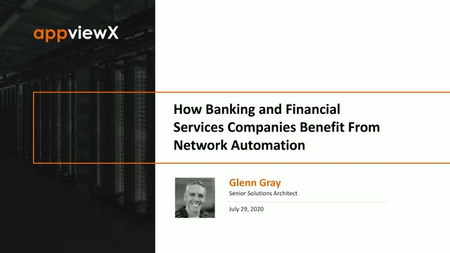 How Banking and Financial Services Companies Benefit from Network Automation
