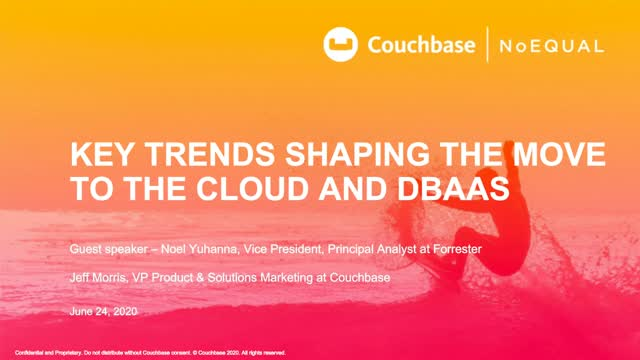 Key Trends Shaping the Move to the Cloud and DBaaS
