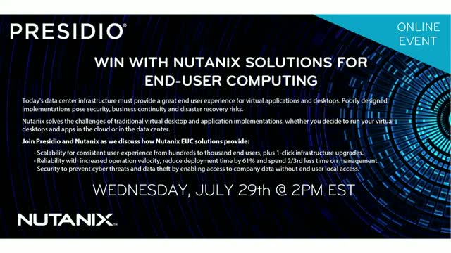 Win with Nutanix Solutions for End-User Computing