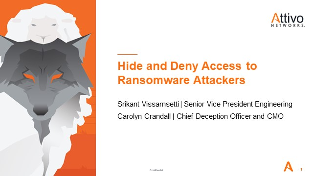 Hide and Deny Access to Ransomware Attackers