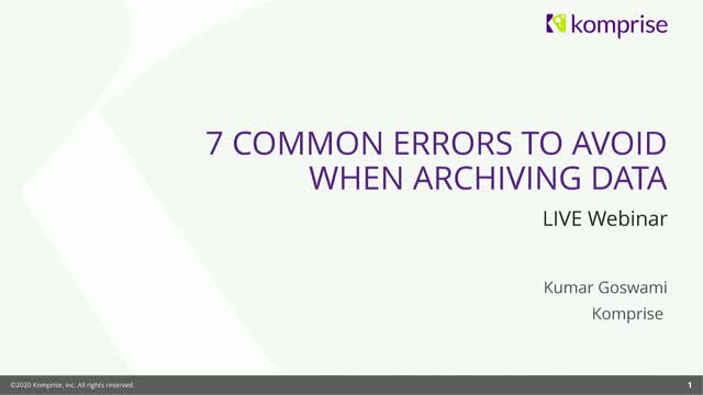 7 Common Errors to Avoid when Archiving Data