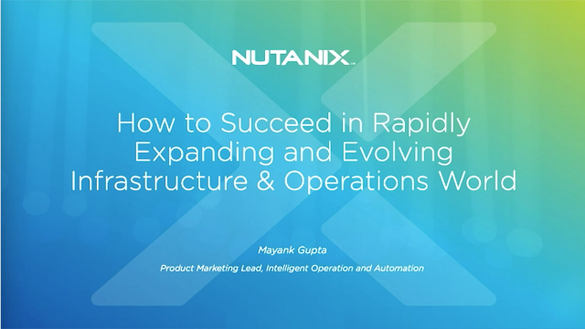 Success in a Rapidly Expanding and Evolving Infrastructure & Operations World