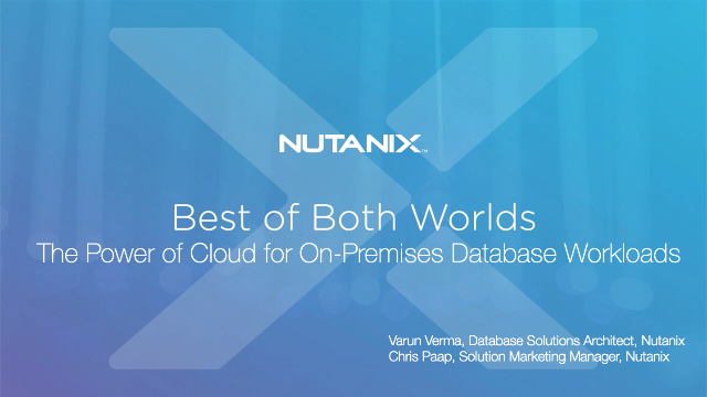 The Power of Cloud for On-Premises Database Workloads