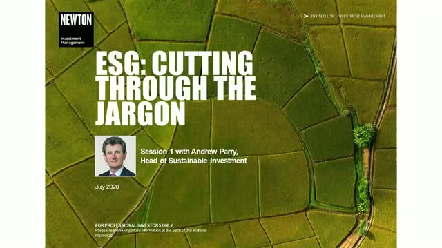 Virtual training – ESG: Cutting through the jargon (1)