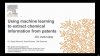 Using machine learning to extract chemical information from patents