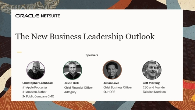 The New Business Leadership Outlook