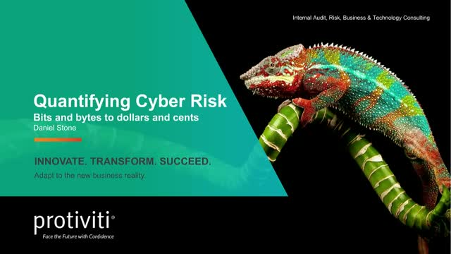 Quantifying Cyber Risk: Bits and bytes to dollars and cents