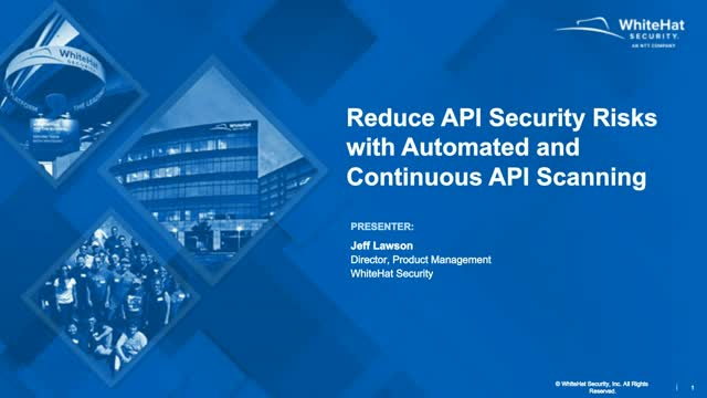 Reduce API Security Risks with Automated and Continuous API Scanning