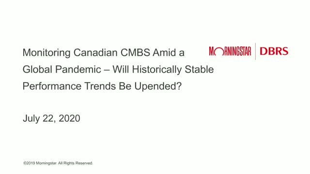 COVID-19 Impact on Canadian CMBS