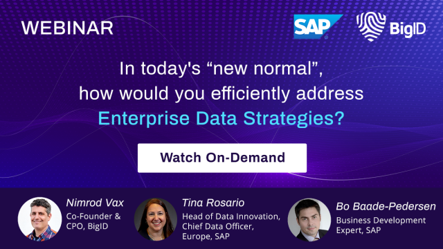 "In today's ""new normal"", how would you address Enterprise Data Stratagies?"