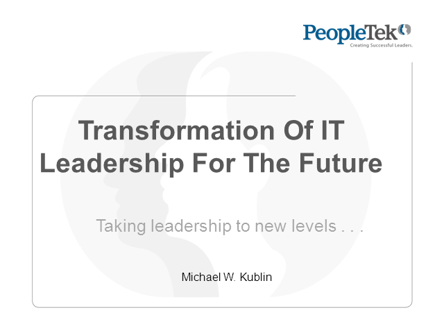Transformation Of IT For The Future