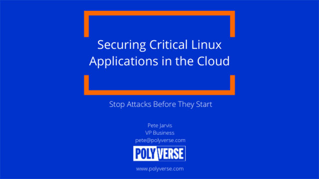 Securing Critical Linux Applications in the Cloud