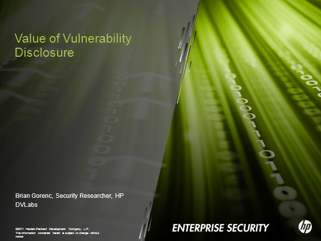 The Value of Vulnerability Disclosure