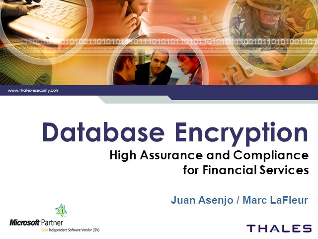 Database Encryption for Financial Services - High Assurance and Compliance