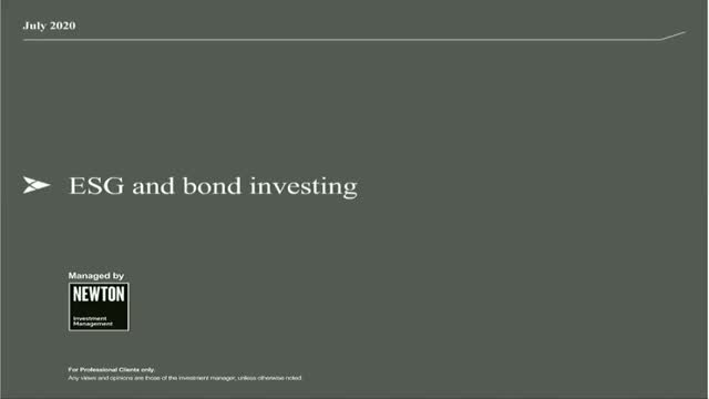 BNY Mellon Investment Management - Why you should consider ESG bond investing