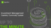 Up to the Minute: Investment Management