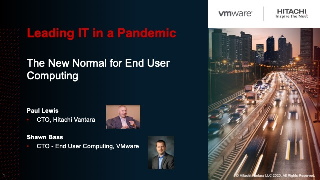 Leading IT in a Pandemic - The New Normal for End User Computing