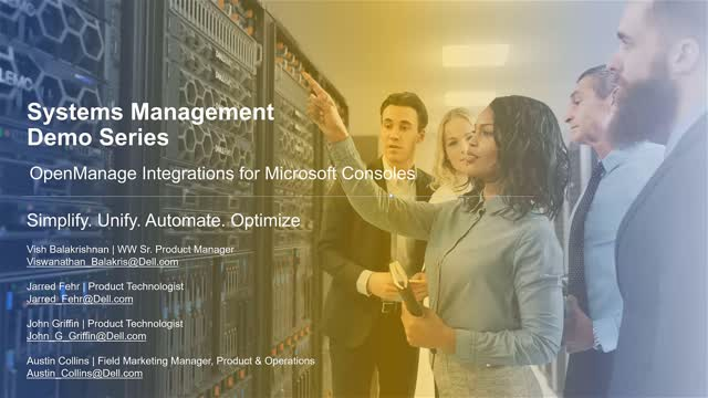 Systems Management Demo Series: OpenManage Integrations for Microsoft Consoles