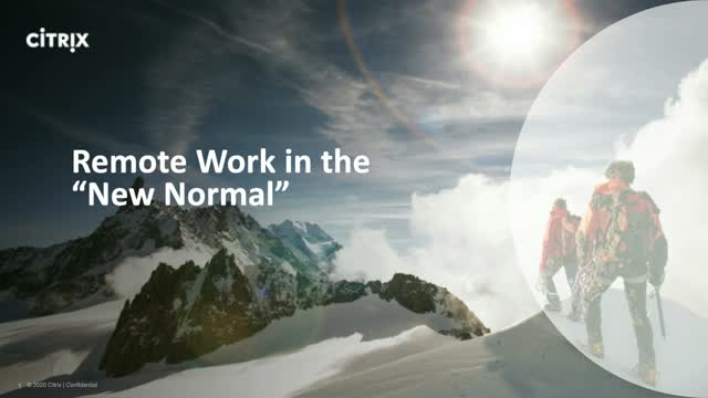 "Remote Work in the ""New Normal"""