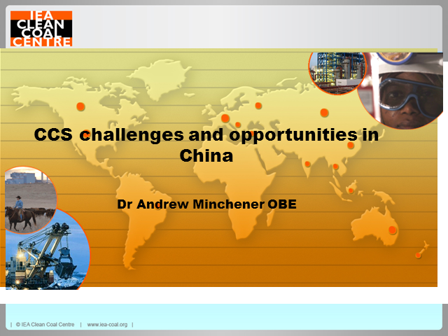 CCS challenges and opportunities in China
