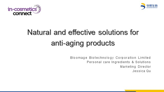 Natural and effective solutions for anti-aging products