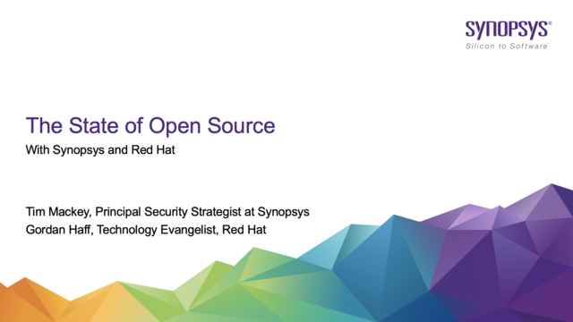 The State of Open Source with Synopsys and Red Hat