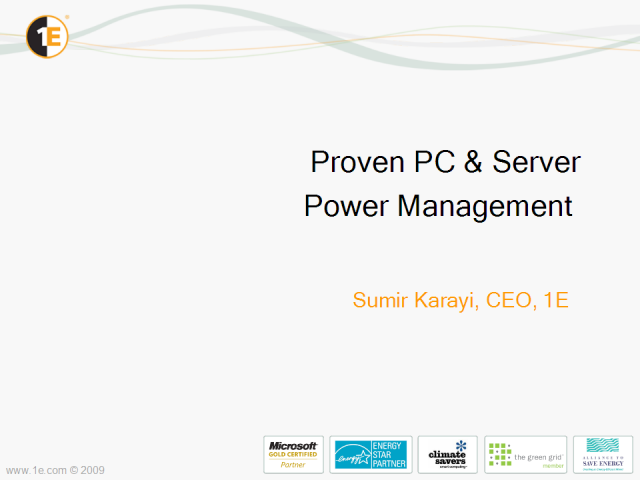 Proven PC and Server Power Management