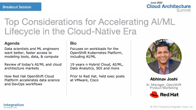 Top considerations for accelerating AI/ML lifecycle in the Cloud-native era