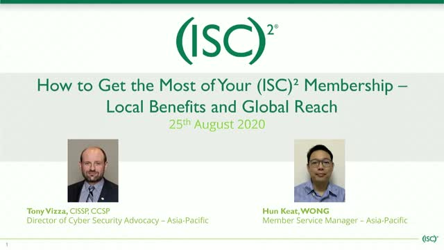 Members Get More! Getting the Most Out of Your (ISC)² Membership