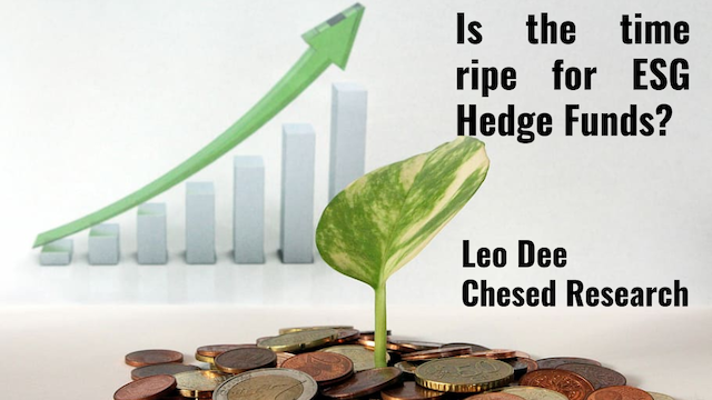 Is the time ripe for ESG Hedge Funds?