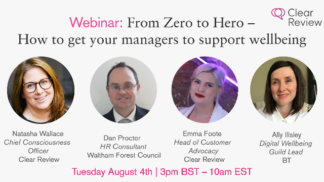 From Zero to Hero – how to get your managers to support wellbeing