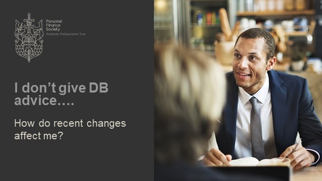 """""""I don't give DB Advice – How do recent changes affect me?"""""""