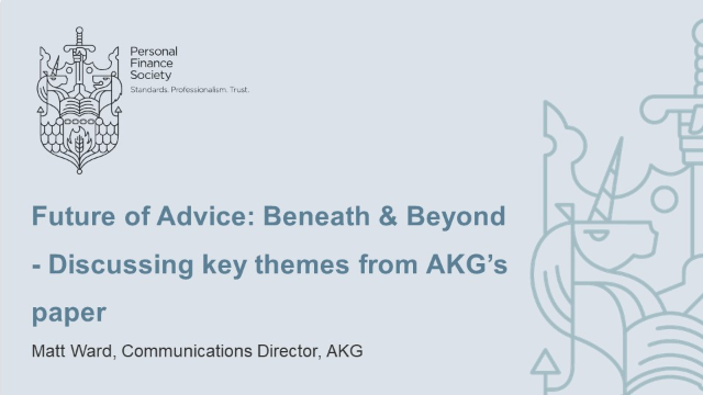 Future of Advice: Beneath & Beyond - Discussing key themes from AKG's paper
