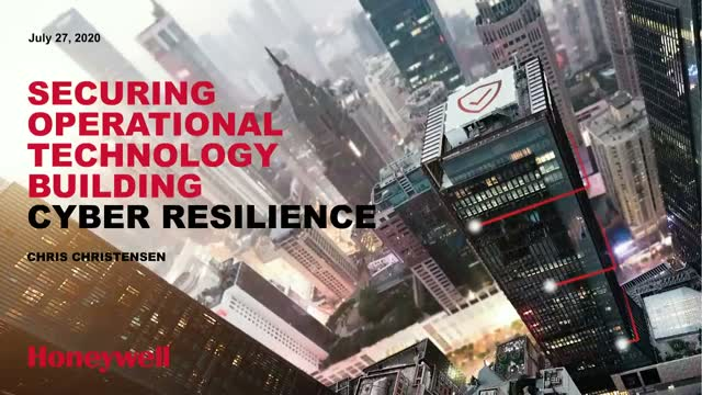 Securing Operational Technology. Building Cyber Resilience