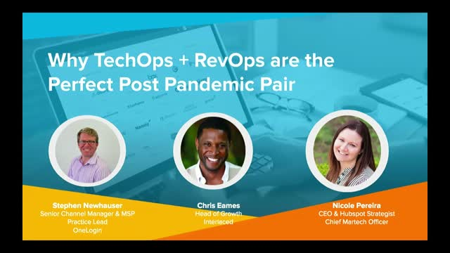 Why TechOps + RevOps are the Perfect Post Pandemic Pair