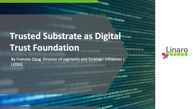 Trusted Substrate as Digital Trust Foundation