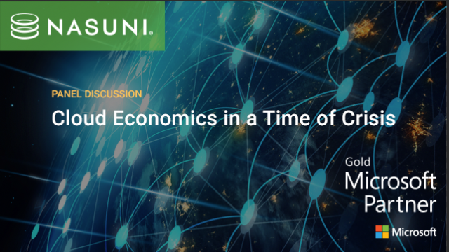 Cloud Economics in a Time of Crisis